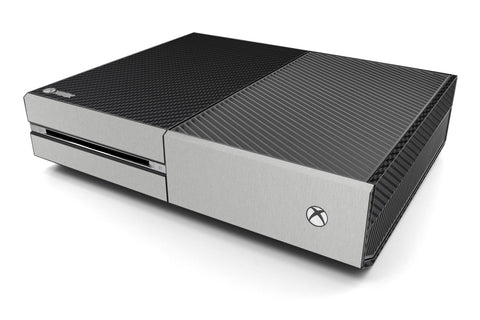 Xbox One Two/Tone - Black/Brushed Aluminum - iCarbons