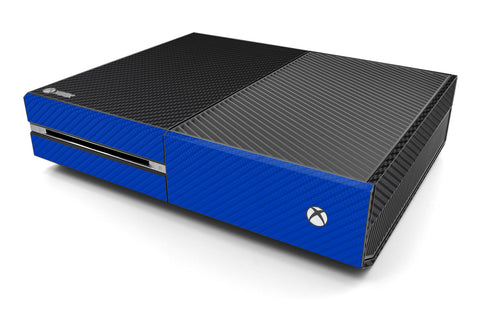 Xbox One Two/Tone - Black/Blue Carbon Fiber - iCarbons