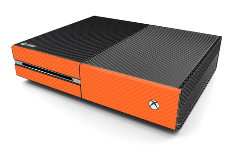 Xbox One Two/Tone - Black/Orange Carbon Fiber - iCarbons