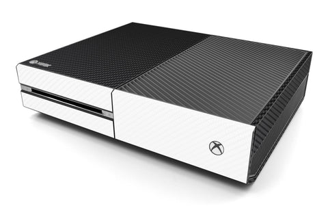 Xbox One Two/Tone - Black/White Carbon Fiber - iCarbons