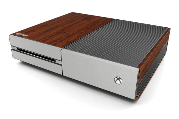 Xbox One Two/Tone - Dark Wood/Brushed Aluminum - iCarbons