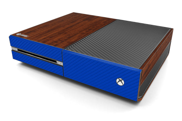 Xbox One Two/Tone - Dark Wood/Blue Carbon Fiber - iCarbons