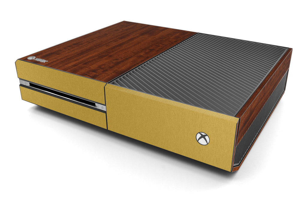 Xbox One Two/Tone - Dark Wood/Brushed Gold - iCarbons