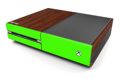 Xbox One Two/Tone - Dark Wood/Green Carbon Fiber