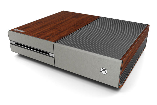 Xbox One Two/Tone - Dark Wood/Brushed Titanium - iCarbons