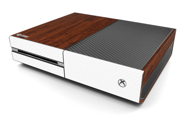 Xbox One Two/Tone - Dark Wood/White Carbon Fiber - iCarbons