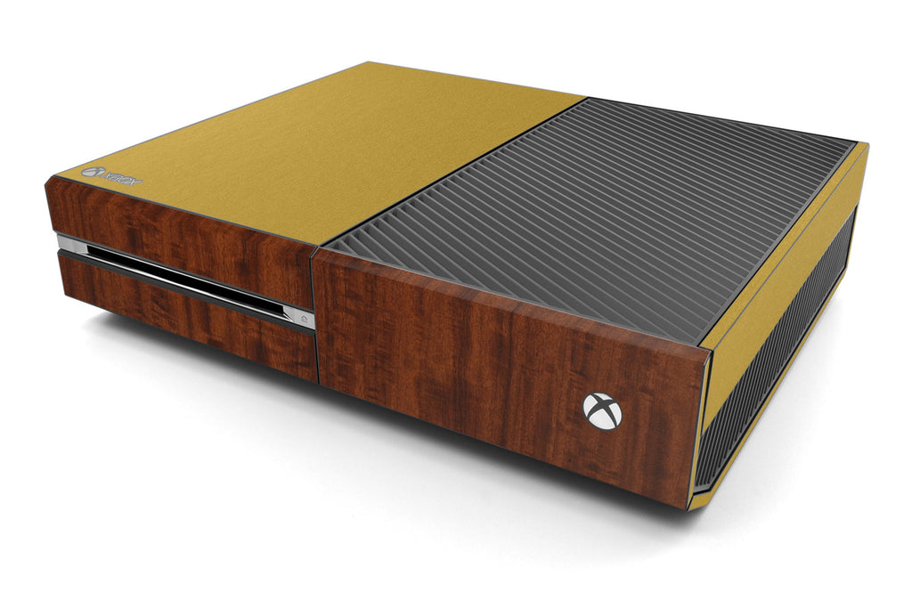 Xbox One Two/Tone - Brushed Gold/Dark Wood - iCarbons