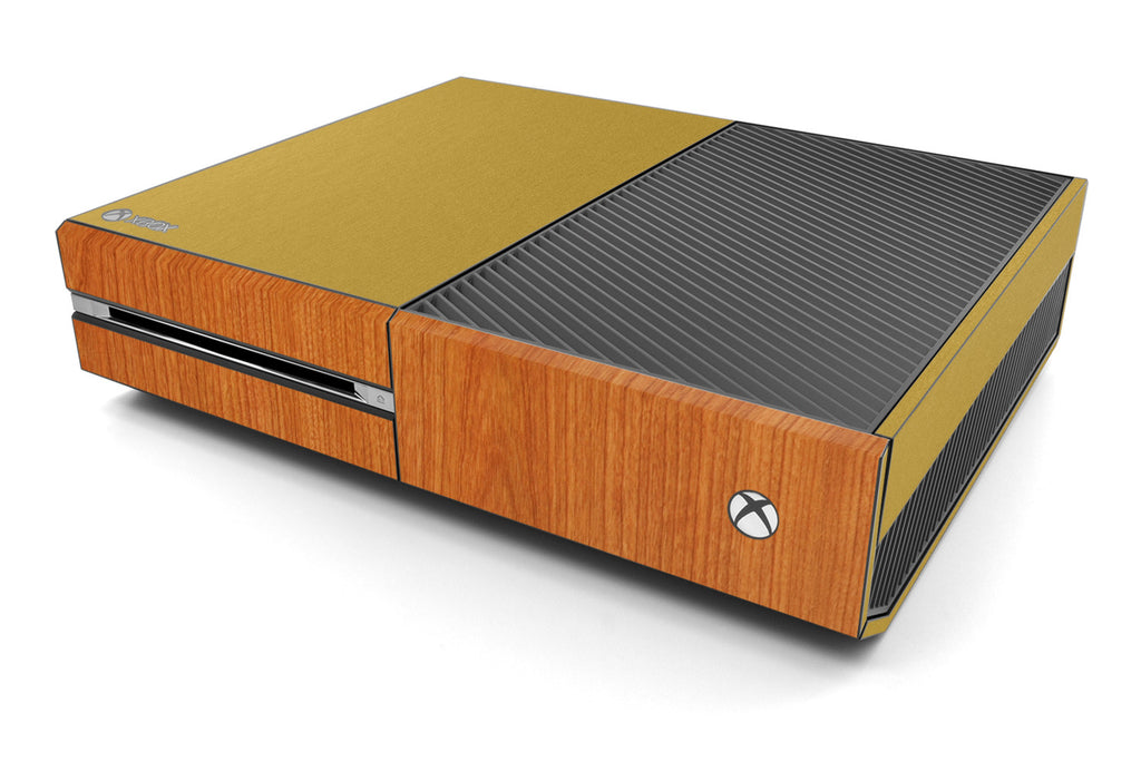 Xbox One Two/Tone - Brushed Gold/Light Wood - iCarbons