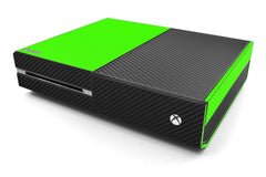 Xbox One Two/Tone - Green/Black Carbon Fiber
