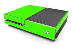 Xbox One Skin - Green Carbon Fiber
