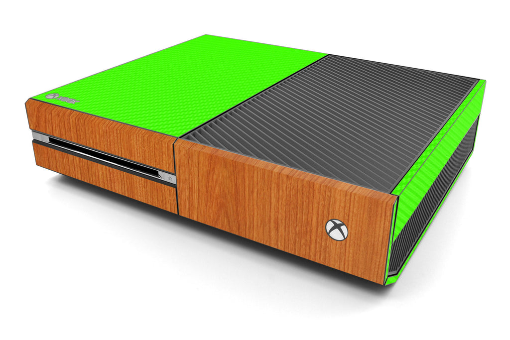 Xbox One Two/Tone - Green/Light Wood - iCarbons