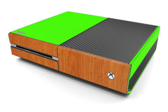 Xbox One Two/Tone - Green/Light Wood