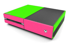 Xbox One Two/Tone - Green/Pink Carbon Fiber