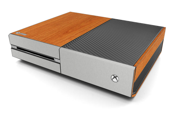 Xbox One Two/Tone - Light Wood/Brushed Aluminum - iCarbons