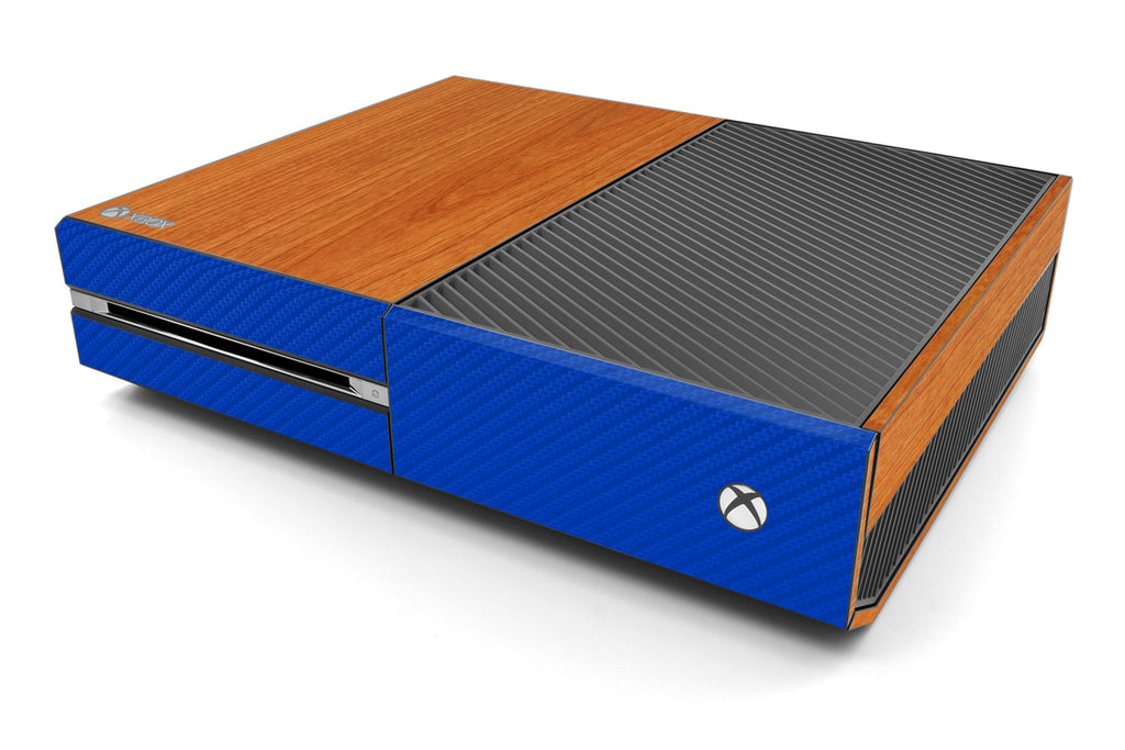 Xbox One Two/Tone - Light Wood/Blue Carbon Fiber - iCarbons