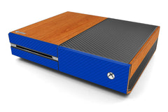 Xbox One Two/Tone - Light Wood/Blue Carbon Fiber