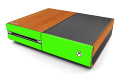 Xbox One Two/Tone - Light Wood/Green Carbon Fiber