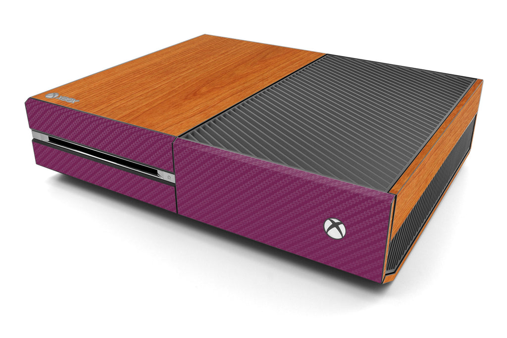 Xbox One Two/Tone - Light Wood/Purple Carbon Fiber - iCarbons