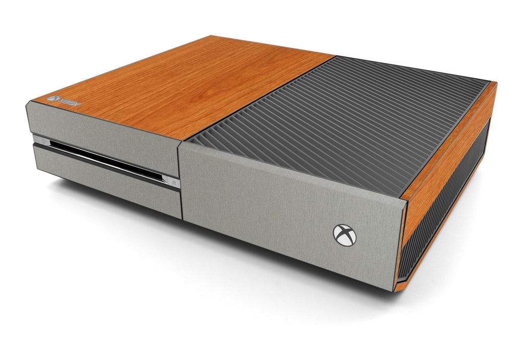 Xbox One Two/Tone - Light Wood/Brushed Titanium - iCarbons
