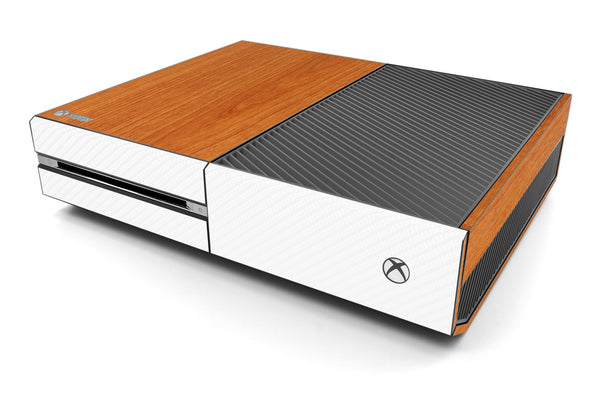 Xbox One Two/Tone - Light Wood/White Carbon Fiber - iCarbons