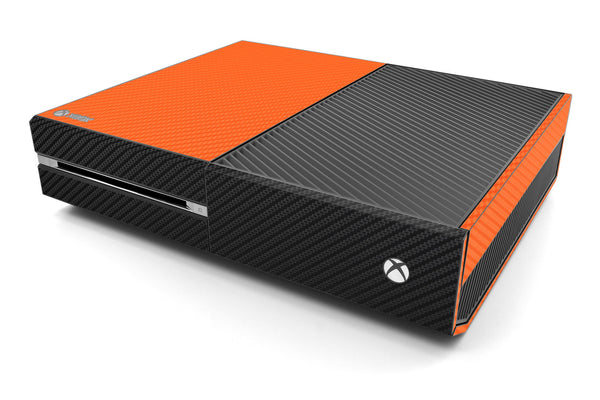 Xbox One Two/Tone - Orange/Black Carbon Fiber - iCarbons