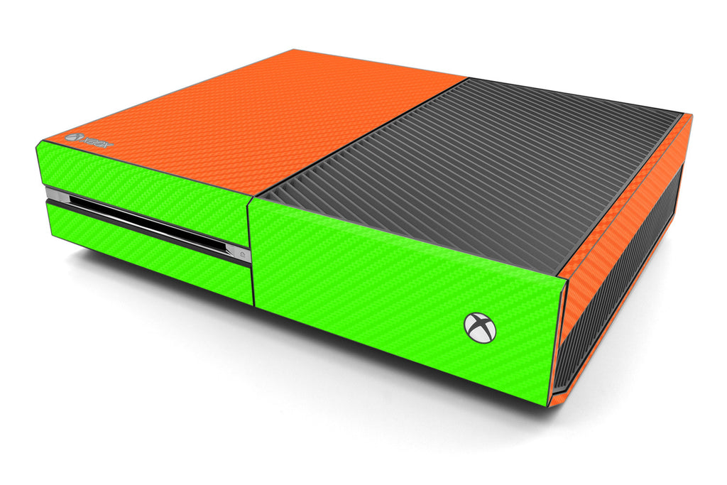 Xbox One Two/Tone - Orange/Green Carbon Fiber - iCarbons