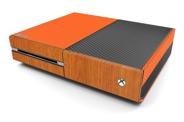 Xbox One Two/Tone - Orange/Light Wood - iCarbons