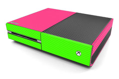 Xbox One Two/Tone - Pink/Green Carbon Fiber