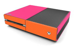 Xbox One Two/Tone - Pink/Orange Carbon Fiber
