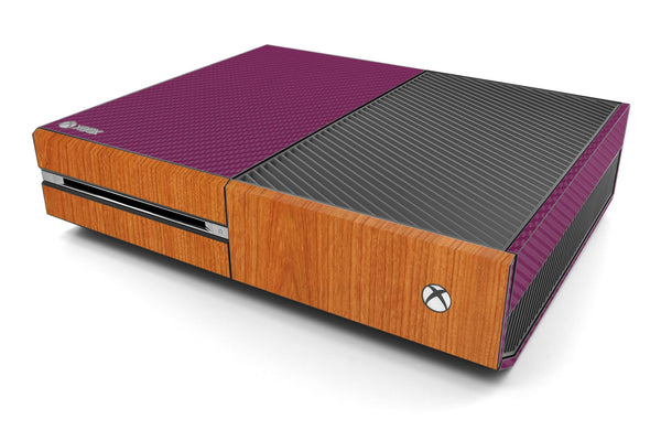 Xbox One Two/Tone - Purple/Light Wood - iCarbons