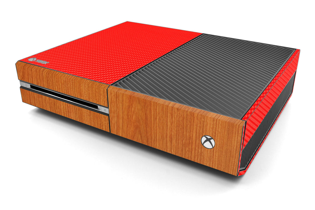 Xbox One Two/Tone - Red/Light Wood - iCarbons