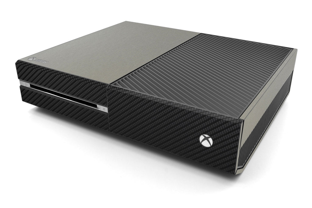 Xbox One Two/Tone - Brushed Titanium/Black Carbon Fiber - iCarbons