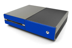Xbox One Two/Tone - Brushed Titanium/Blue Carbon Fiber