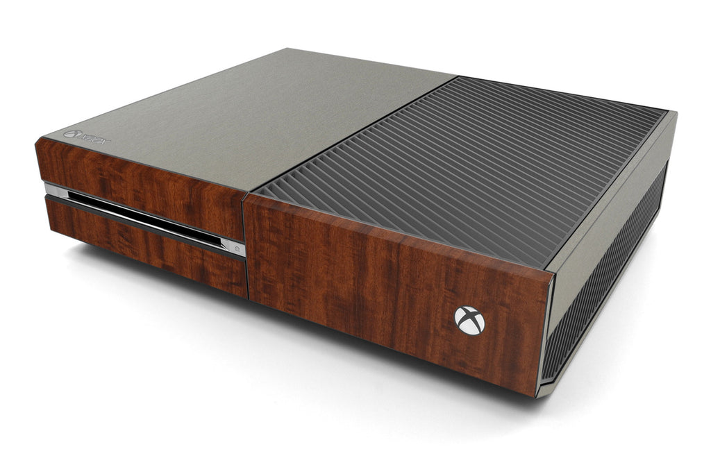 Xbox One Two/Tone - Brushed Titanium/Dark Wood - iCarbons