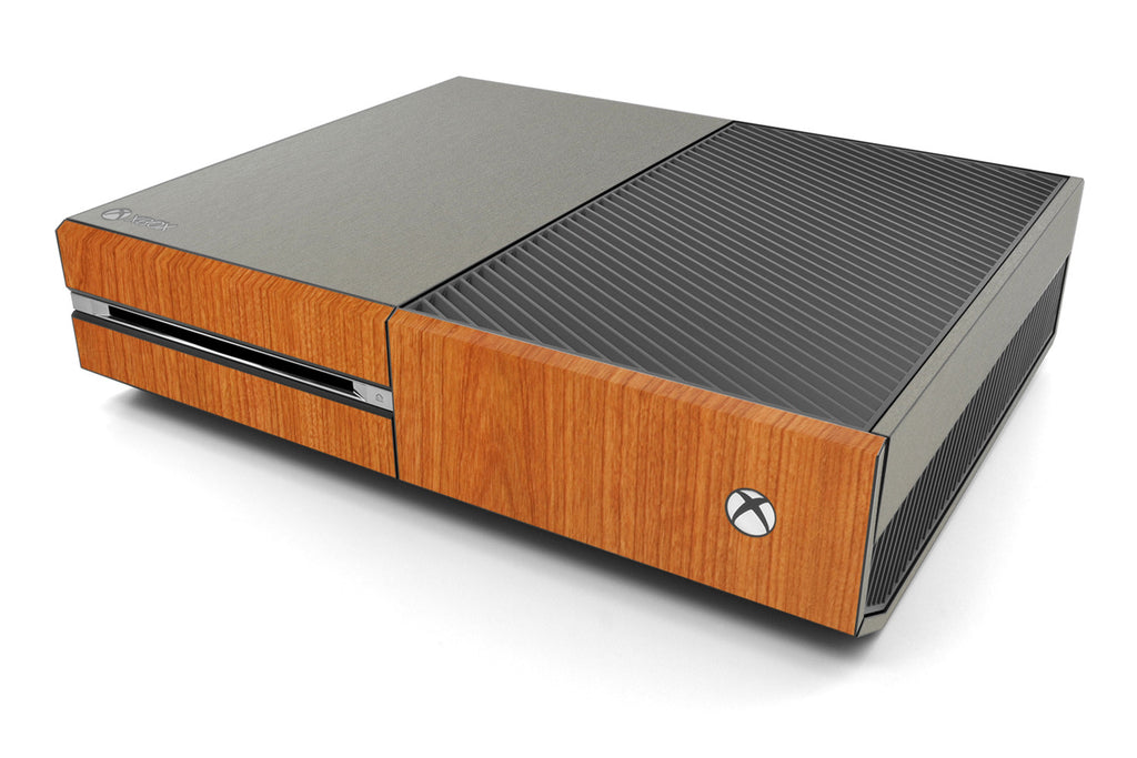 Xbox One Two/Tone - Brushed Titanium/Light Wood - iCarbons