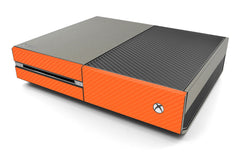 Xbox One Two/Tone - Brushed Titanium/Orange Carbon Fiber