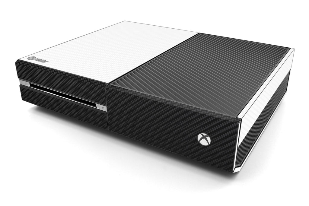 Xbox One Two/Tone - White/Black Carbon Fiber - iCarbons