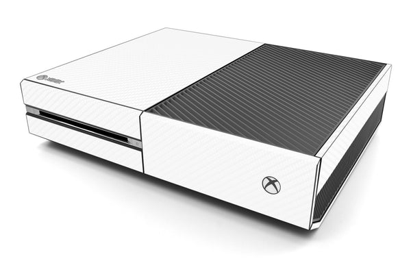 Xbox One Skin - White Carbon Fiber - iCarbons - 1