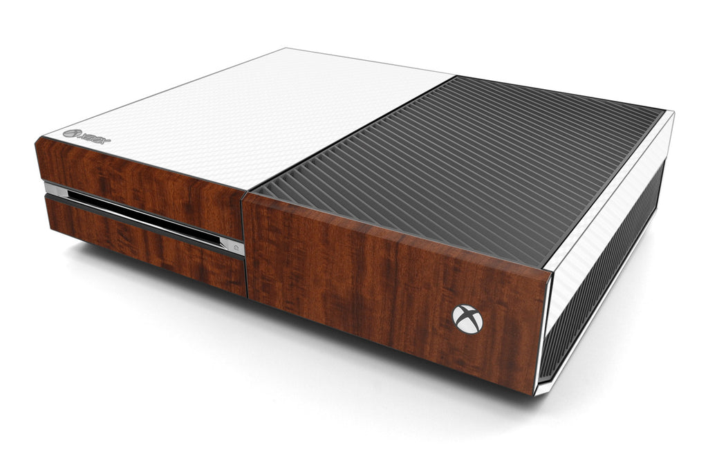 Xbox One Two/Tone - White/Dark Wood - iCarbons