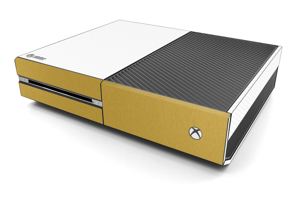 Xbox One Two/Tone - White/Brushed Gold - iCarbons