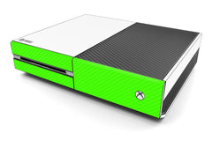 Xbox One Two/Tone - White/Green Carbon Fiber