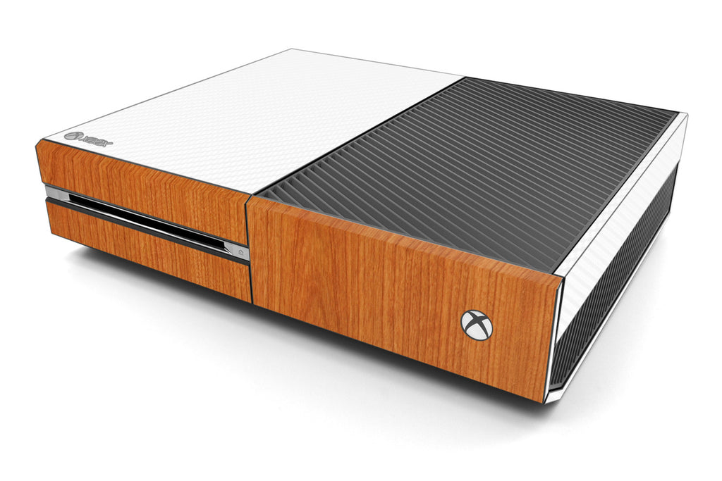 Xbox One Two/Tone - White/Light Wood - iCarbons