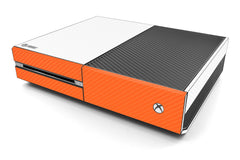 Xbox One Two/Tone - White/Orange Carbon Fiber