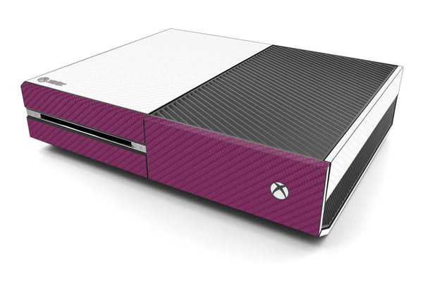 Xbox One Two/Tone - White/Purple Carbon Fiber - iCarbons