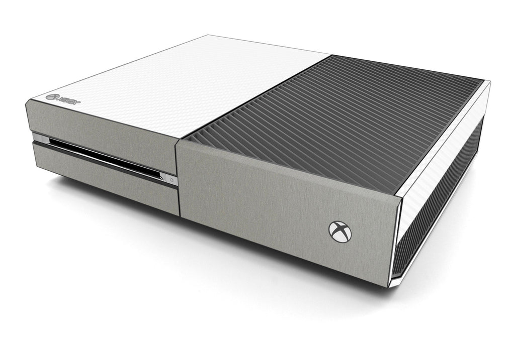 Xbox One Two/Tone - White/Brushed Titanium - iCarbons