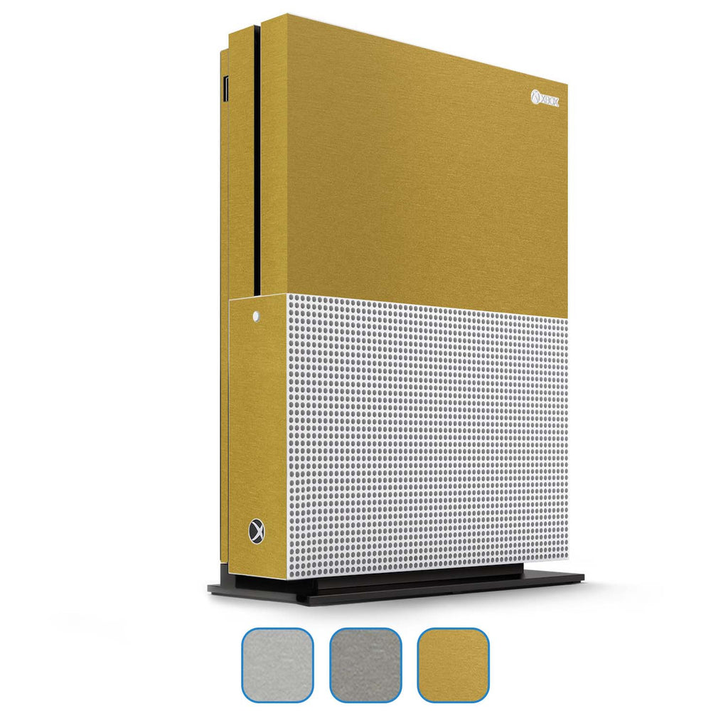 Xbox One S Skin - Brushed Metal - iCarbons - 1