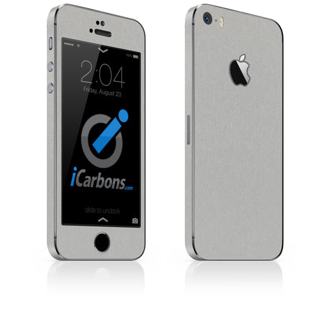iPhone 5S / SE - Brushed Aluminum - iCarbons - 1