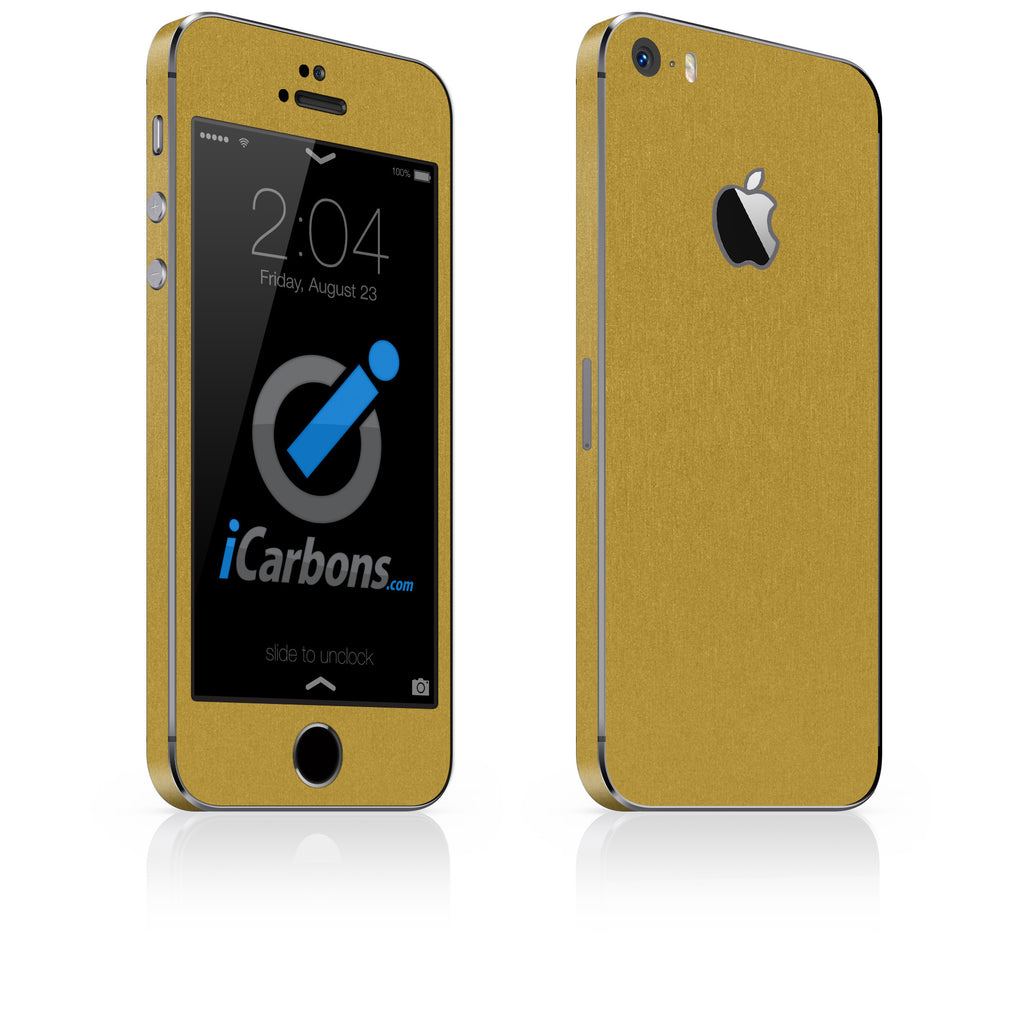 iPhone 5S / SE - Brushed Gold - iCarbons - 1