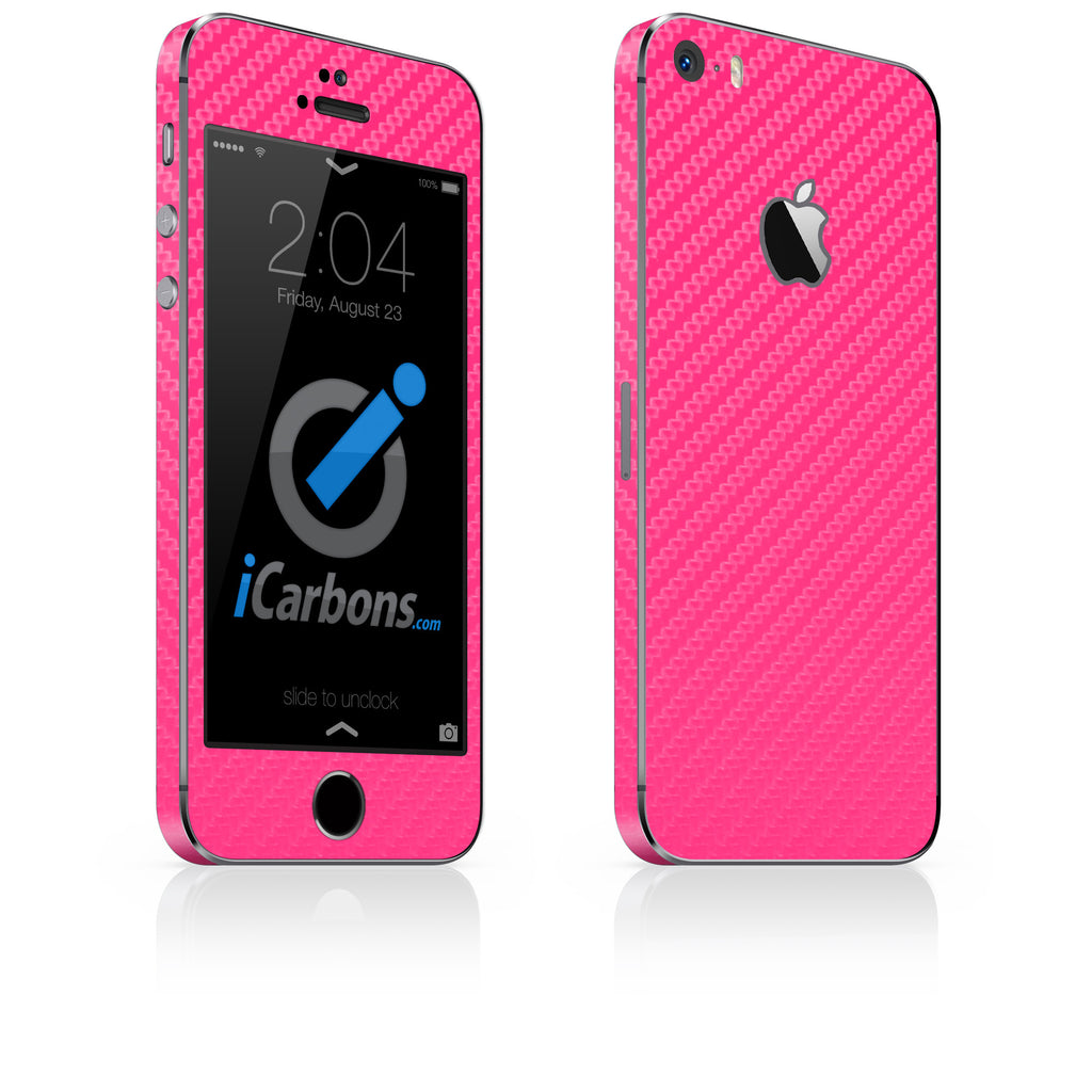 iPhone 5S / SE - Pink Carbon Fiber - iCarbons - 1