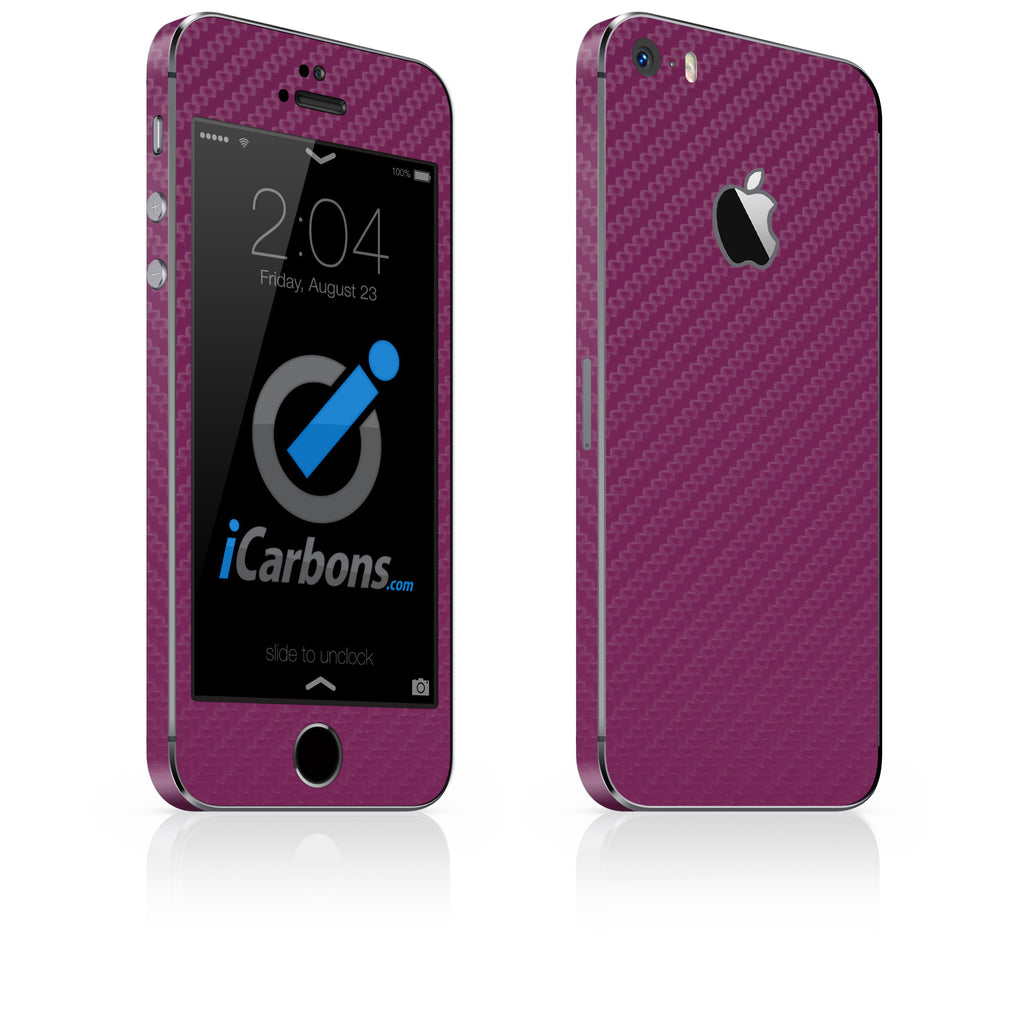 iPhone 5S / SE - Purple Carbon Fiber - iCarbons - 1
